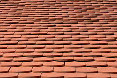 Surface of the red tile roof Stock Photos