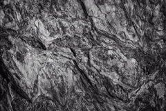 Surface of the rock in black and white.  Royalty Free Stock Photo