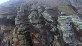 Surface of the rock close up. Andreev. stock video footage