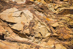 Surface of the rock. Royalty Free Stock Image