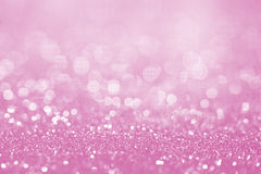 Surface rose de scintillement avec le bokeh léger rose - il peut être employé pour image libre de droits