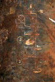 Surface rouillée de plan dessiné par fer Photo libre de droits