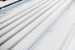 Surface of rows in gypsum moldings Stock Image