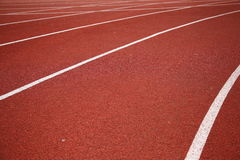 Surface of running track Royalty Free Stock Images