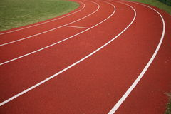 Surface of running track Royalty Free Stock Image