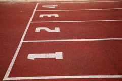Surface of running track Stock Photos