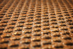 Surface of a rusty metal floor Royalty Free Stock Photos