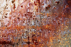Surface of rusty steel sheet. Stock Photography
