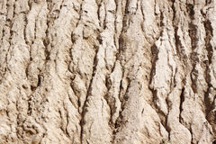 Sand surface to water erosion Royalty Free Stock Images