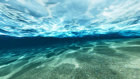 Surface of sand under water. In the ocean Royalty Free Stock Image
