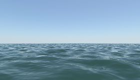 Surface sea against the blue sky Stock Image