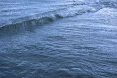 Surface sea water with waves and ripples.  stock images