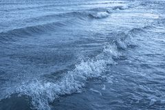 Surface sea water with waves and ripples.  royalty free stock photo