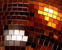 Surface of shiny discoball Royalty Free Stock Photo