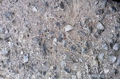 The surface of small broken stones Stock Photo