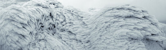 The surface of the snow and ice Royalty Free Stock Image