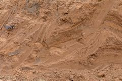 Free Surface Soil, Which Traces The Dig. Stock Photo - 126486480
