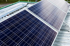 Surface of the a solar panel closeup Stock Photos