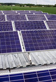 Surface of the a solar panel on field Royalty Free Stock Photos