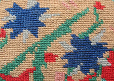 The surface of the solid embroidery stitch Royalty Free Stock Photography
