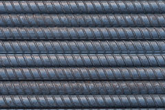 Surface of Steel bar, Rebar background Royalty Free Stock Photography