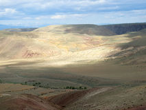 The surface of steppe in different shades on the nature backgrou Stock Photos