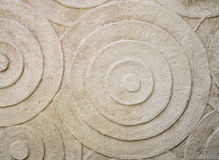 Surface of the stone with circle style for decorate Royalty Free Stock Photography