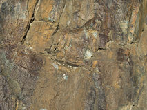 Surface of stone with crumpled craft paper texture. Stock Photos