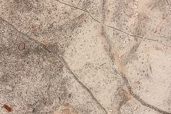 Surface of stoneware close up full of out of focus, granular shapes Royalty Free Stock Photography