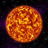 Surface of the sun. Illustration showing the detailed surface of the sun Royalty Free Stock Photo