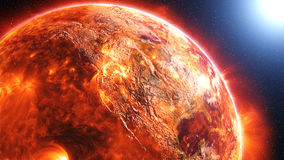 Surface of the sun. 3d rendering of the molten hot surface of the sun Royalty Free Stock Photos