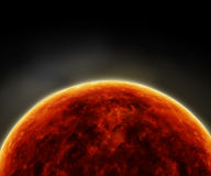 Surface of the Sun.Solar Atmosphere Royalty Free Stock Images