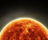 Surface of the Sun.Solar Atmosphere Royalty Free Stock Image