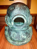Vintage old surface supplied diver helmet Stock Images