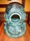 Vintage old surface supplied diver helmet Stock Images