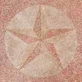 Surface of terrazzo floor is decorated with Star Royalty Free Stock Photography
