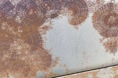 Surface texture of rusty metal. Abstract background Stock Images