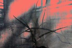 Surface texturisée tropicale en couleurs de corail gris et vivant photo libre de droits
