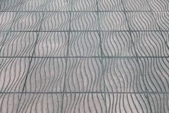 The surface of the tile on the sidewalk Royalty Free Stock Photos