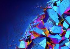 surface of Titanium Aura Crystal Cluster stone   Royalty Free Stock Photos