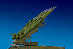 Surface to air, anti aircraft missile Stock Photography