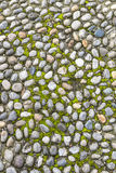 Surface of vintage pebble pavement Royalty Free Stock Image