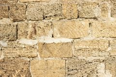 Surface of vintage stone wall at old house.  Stock Photography