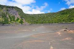 On the surface of a volcanic crater Royalty Free Stock Images