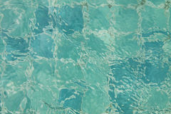Surface of water in the pool Royalty Free Stock Image