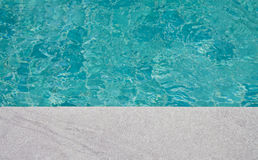 Surface of water in the pool. Stock Photos