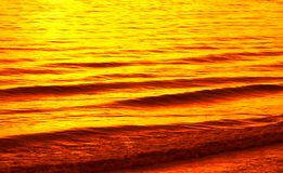 Surface of water at sunset Stock Photography