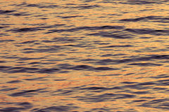 Surface water in the sunset time Royalty Free Stock Photo