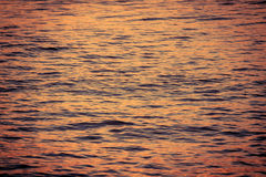 Surface water in the sunset time. Picture of the surface water in the sunset time stock photography