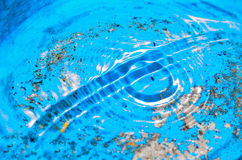 Surface water waves. Beautiful waves on the surface Stock Photos